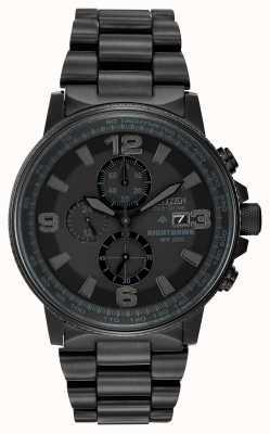 Citizen Relógio masculino monocromático de carvoeiro ecológico CA0295-58E