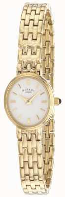 Rotary Mostrador oval de pulseira banhado a ouro das mulheres LB02084/02