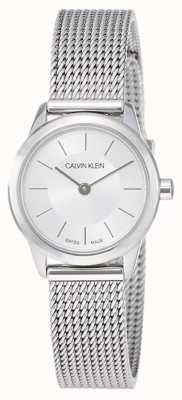 Calvin Klein Mínimo das mulheres | cinta de malha de aço inoxidável | K3M23126