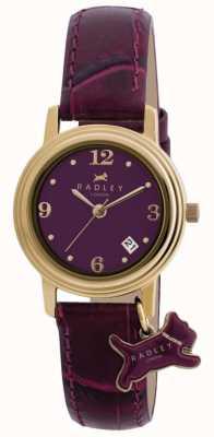 Radley Bracelete em couro roxo darlington roxo para mulher RY2008S