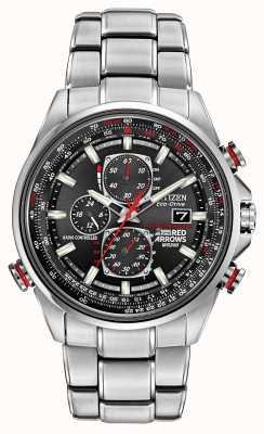 Citizen Setas vermelhas de Gent no relógio cronógrafo cronógrafo D9 AT8060-50E