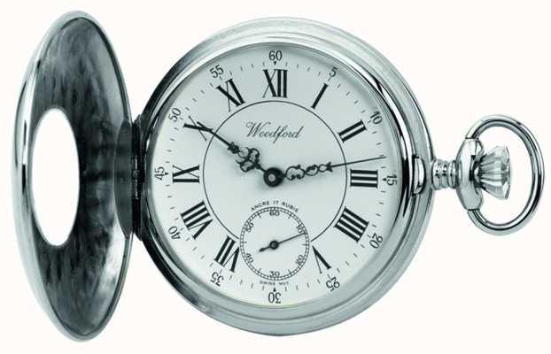 Woodford | meio caçador | acabamento cromado | relógio de bolso | 1011