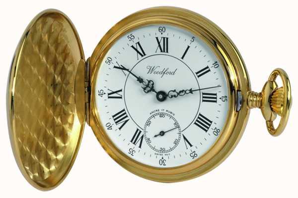 Woodford | caçador completo | banhado a ouro | relógio de bolso | 1009