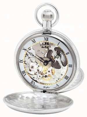 Woodford | esqueleto caçador | tampa dupla | prata | relógio de bolso | 1003