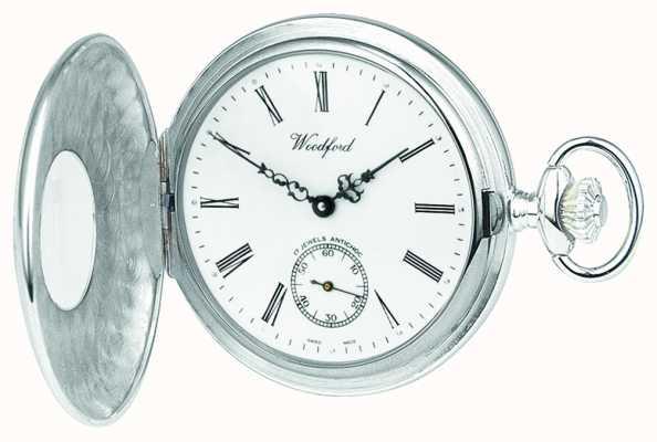 Woodford | meio caçador | prata esterlina | relógio de bolso | 1004