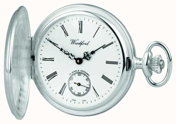 Woodford Pocketwatch de caçador de prata 1064