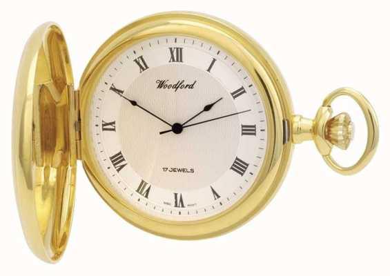 Woodford | caçador completo | banhado a ouro | relógio de bolso | 1028