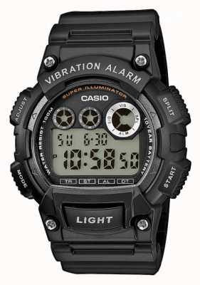 Casio Relógio de alarme de vibração de pulseira de resina preta para homem W-735H-1AVEF