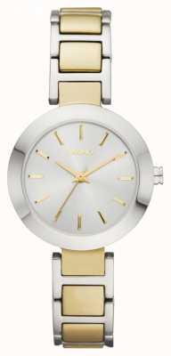 DKNY Relógio de pulseira de seletor de dois tons de Womens NY2401