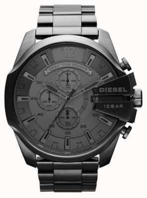 Diesel Mens mega chief black steel watch DZ4282