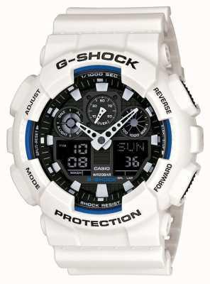 Casio Mens g shock branco resina relógio GA-100B-7AER