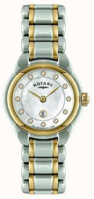 Rotary Ladies relógio de dois tons LB02602/41L