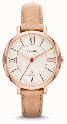 Fossil Relógios de cor amarela bege rosa jacqueline para mulher ES3487