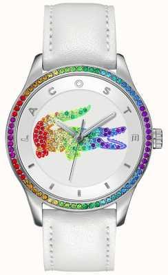 Lacoste Relógio branco multicor Victoria 2000822
