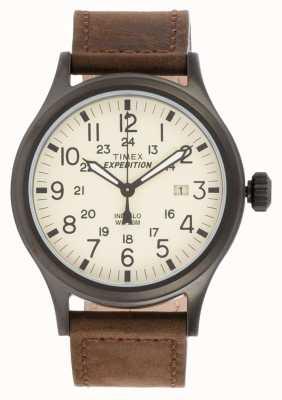 Timex Mens expedição scout relógio marrom T49963