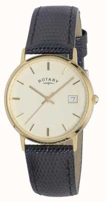 Rotary Mens 9ct gold case metais preciosos GS11476/03