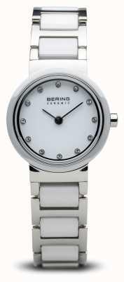 Bering Relógio de cerâmica de tom duplo minimalista 10725-754