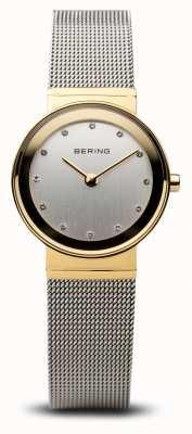 Bering Time ladies ouro e prata malha clássica 10122-001