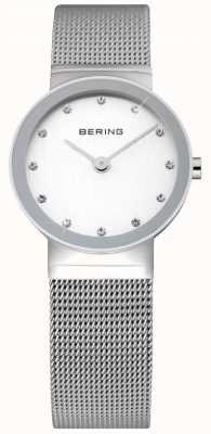 Bering Relógio de malha de prata 10126-000