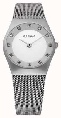 Bering Relógio de pulseira de malha feminina 11927-000