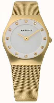 Bering Relógio de malha de ouro senhoras 11927-334