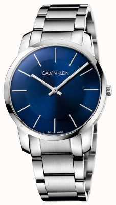 Calvin Klein Mens city relógio de aço em aço pulseira K2G2114N