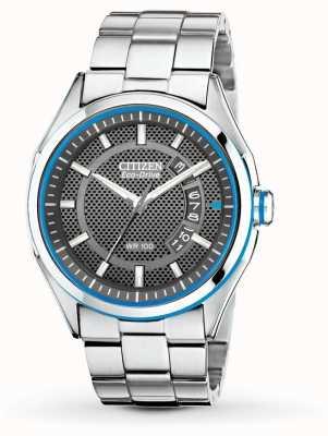 Citizen Drive Mens eco drive htm relógio pulseira de aço inoxidável data AW1141-59E