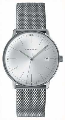 Junghans Mens max bill relógio de aço inoxidável 041/4463.44