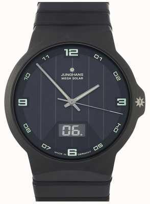 Junghans Força mega solar | pulseira de cerâmica preta | 018/1436.44