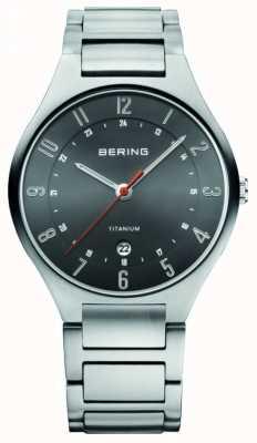 Bering Mens titânio, relógio de discagem preto 11739-772