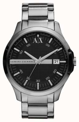 Armani Exchange Gents relógio de tom de prata inteligente AX2103