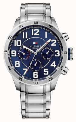 Tommy Hilfiger Relógio Trent Chronograph Blue Dial para homem 1791053