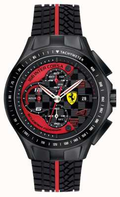 Scuderia Ferrari Mens race day, preto, pulseira de borracha 0830077