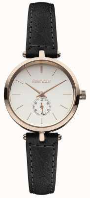 Barbour Lisle relógio de pulseira de couro preto BB011RSBK