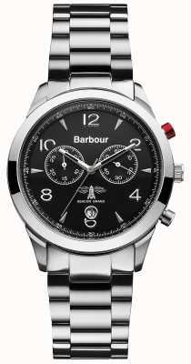 Barbour Análogo de quartzo movido a bateria de aço inoxidável dos homens BB017SL