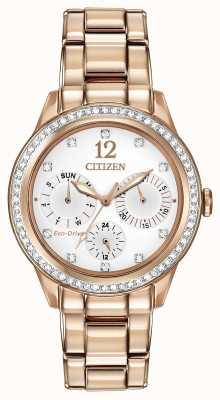 Citizen Relógio feminino de cristal silhueta FD2013-50A