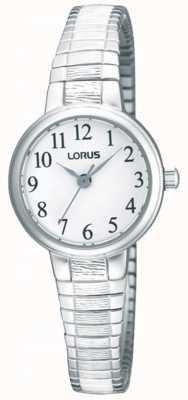 Lorus Relógio de pulseira de aço inoxidável para senhoras RG239NX9