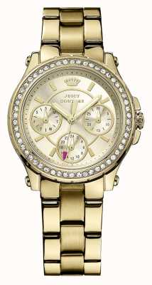 Juicy Couture Pedigree feminino, ouro, cristal, pulseira 1901105