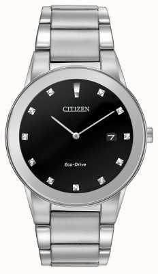 Citizen | axioma da eco-movimentação dos homens | mostrador preto diamantado | AU1060-51G