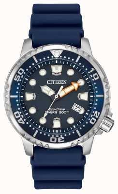 Citizen Promaster profissional mergulhador borracha azul BN0151-09L