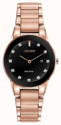 Citizen Womens axiom rose gold plateated eco-drive GA1058-59Q