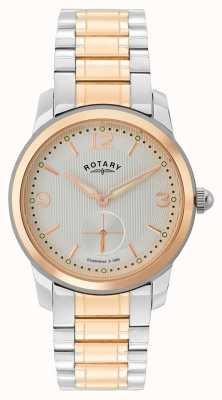 Rotary | cambridge mens relógio de dois tons | GB02701/01