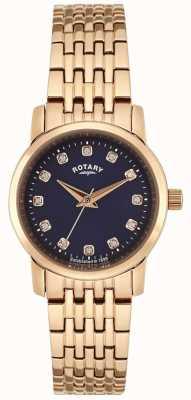 Rotary Discagem azul de ouro rosa feminino LB02462/05