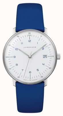 Junghans Max bill quartzo senhora | pulseira de couro azul 047/4540.04