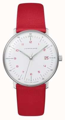 Junghans Senhora fatura max | quartzo | cinta vermelha 047/4541.04