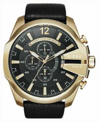 Diesel Mega chefe de relógio de cronógrafo de ouro dourado DZ4344