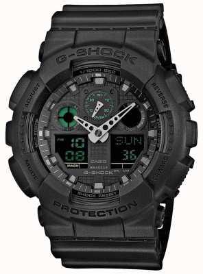 Casio G-shock stealth verde preto mens mundo timer GA-100MB-1AER