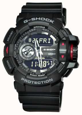 Casio Mens g-shock relógio de cronógrafo preto GA-400-1BER