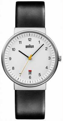 Braun Mens all white black watch BN0032WHBKG