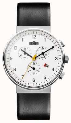 Braun Relógio cronógrafo clássico unissex BN0035WHBKG